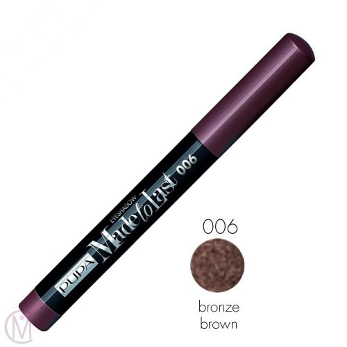 Pupa Made To Last Eyeshadow 006 Bronze Brown, Lang Houdende en Waterproof