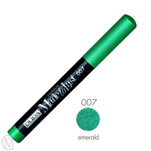 Pupa Made To Last Eyeshadow 007 Emerald, Lang Houdende en Waterproof
