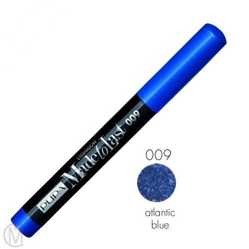 Pupa Made To Last Eyeshadow 009 Atlantic Bleu, Lang Houdende en Waterproof