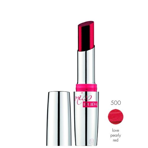 Pupa Miss Pupa lipstick 500 love pearly red