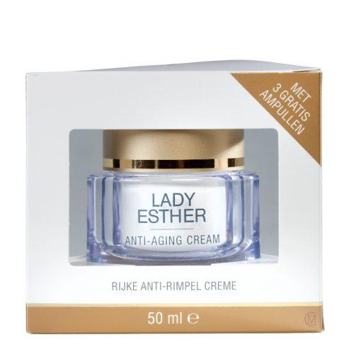 Lady Esther Anti-aging, & 3 ampullen , hoogwaardige 24-uurs Verzorgingscrème