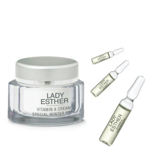 Lady Esther Vitamine A Cream Special Winter Care, met 3 gratis ampullen