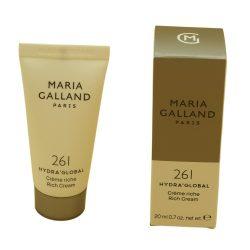 Maria Galland 261 Crème Riche Hydra' Global, 20ml reisverpakking Dagcrème Garandeert Hydratatie voor 24 uur Droog tot zeer Droog