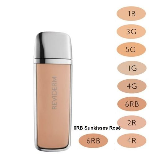 Reviderm Make-up Selection Stay On Minerals Foundation 6RB Sunkisses Rosé,
