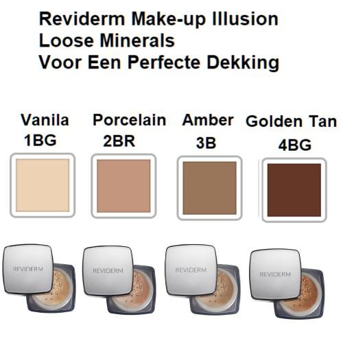 Reviderm Illusion Loose Minerals kleuren Mooiecosmetica