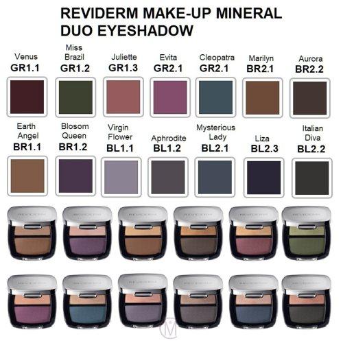 Reviderm Make-Up Mineral Duo Eyeshadow kleuren Mooiecosmetica