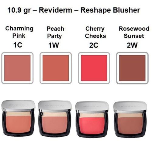 Reviderm Make-up Reshape Blusher kleuren Mooiecosmetica
