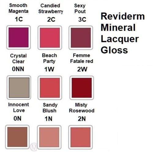 Reviderm Mineral Lacquer Gloss Kleuren