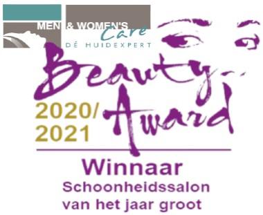 beauty award 2020 en 2021 WINNAAR website Men & Womens Care